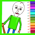 Coloring book for Basics Education & School game! icon