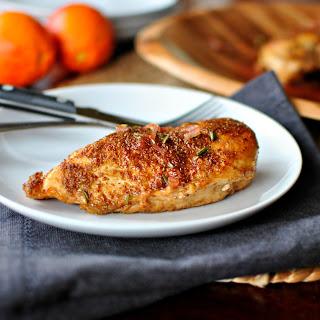 Spice Crusted Chicken with Blood Orange Maple Glaze.