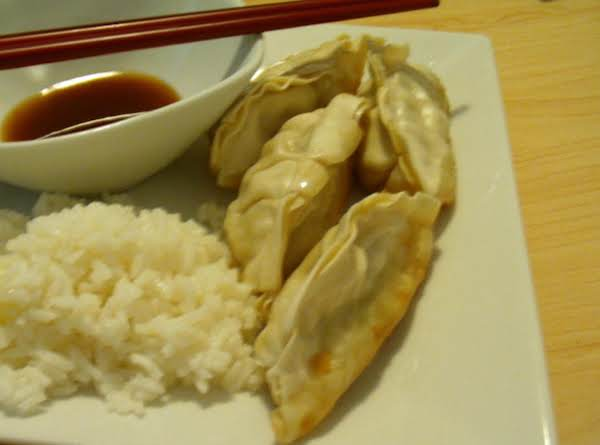 Pork Pot Stickers With Sesame Soy Sauce