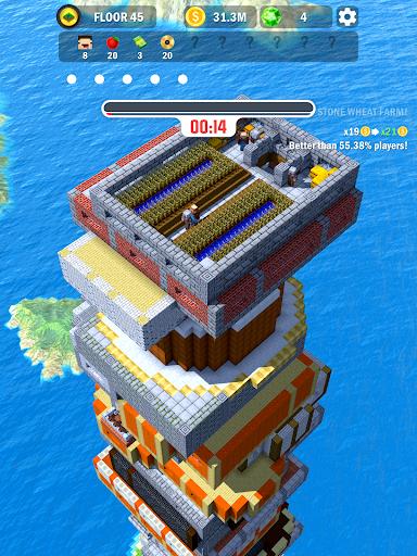 Tower Craft 3D - Idle Block Building Game apkdebit screenshots 9