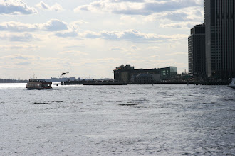 Photo: The lower tip of Manhattan across the East River.