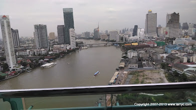Photo: The Chao Phraya River from our hotel room.