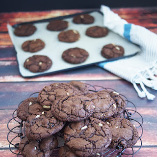 Chocolate, Sour Cherry & Almond Cookies