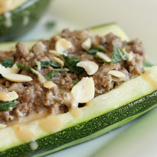 Lebanese Beef Zucchini Boats