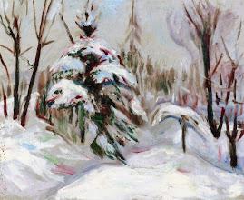 "Photo: Edvard Munch, ""Foresta inverale"" (1927-1930)"