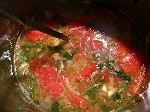 Photo: soup is ready for serving