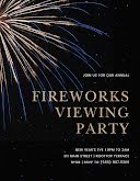 Fireworks Viewing Party - Poster item
