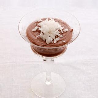 Coconut Milk Chocolate Pudding.