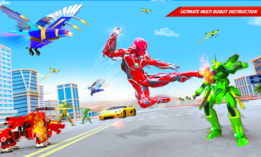 Flying Police Eagle Bike Robot Hero: Robot Games 29 screenshots 4