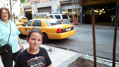 Photo: Ethan and a NYC cab