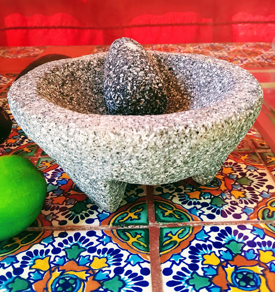 Molcajete a Mortar and Pestle Made of Volcanic Stone Used for Food Preparation.