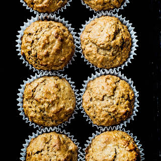 Almond Spiced Honey Oatmeal Muffins.