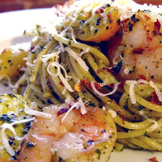 Shrimp Pesto Pasta (Spicy Asian Shrimp Pesto Pasta)