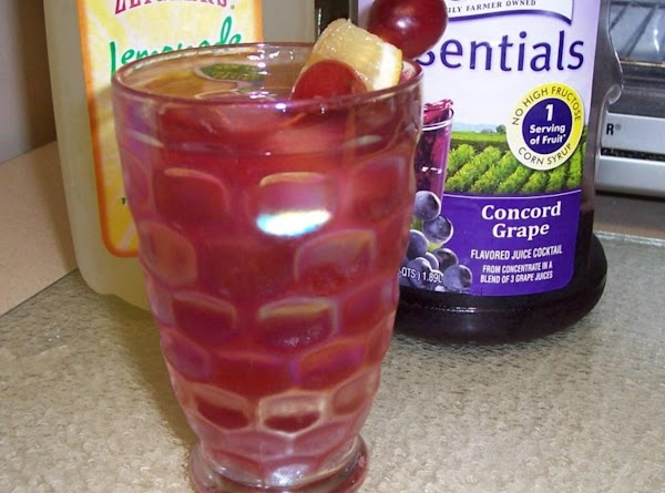 Mix all together, garnish with fruit.For the Holidays ` put one bottle of each...