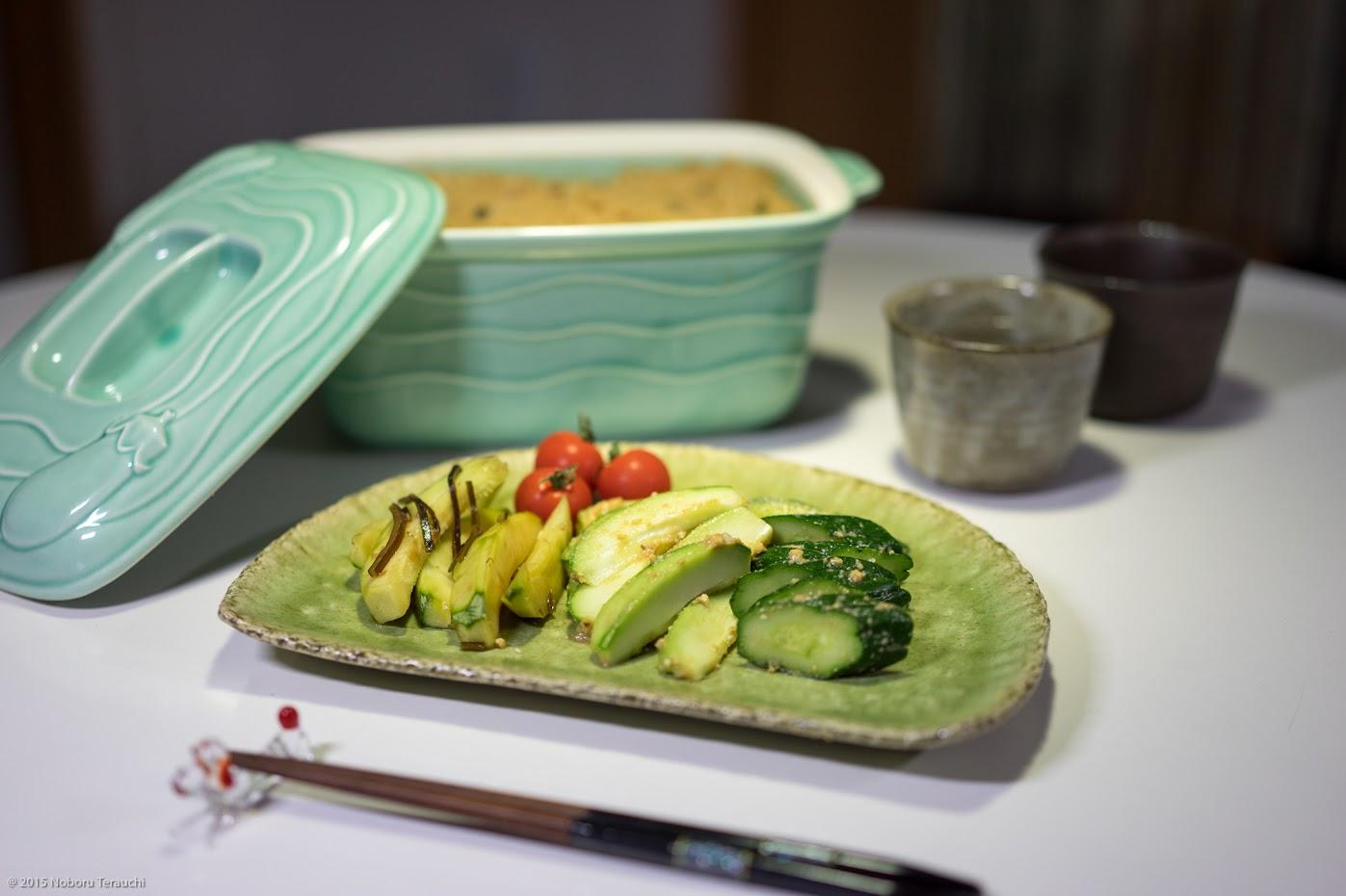 摘果メロンのお漬物(昆布醤油漬け&糠漬け)