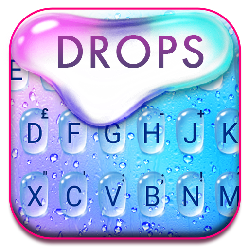 Colorful Raindrops Water Keyboard Theme Icon
