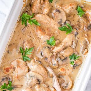Chicken and Mushroom Casserole.