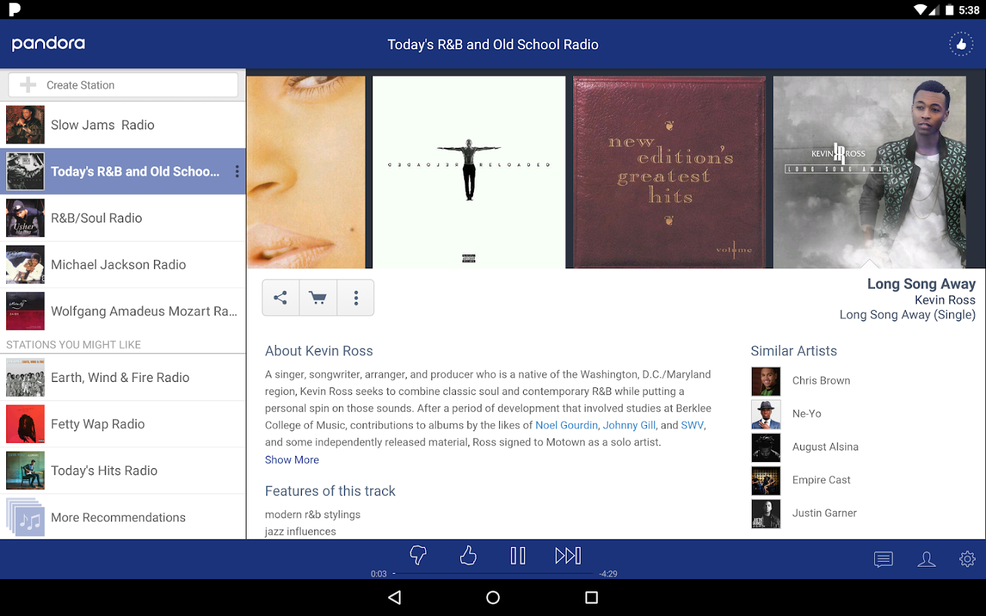 Pandora® Music- screenshot