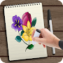 how to draw a Flowers APK icon
