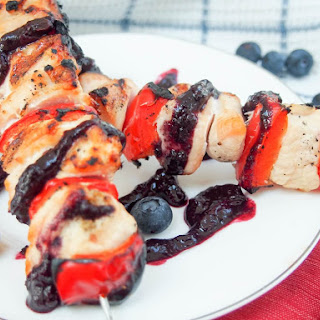 Blueberry barbecue sauce (for red, white and blue chicken skewers) #SundaySupper