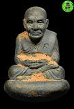 ลป.ทวด เบ้าทุบ รุ่นแรก (รุ่น ลังกาสุกะ) เนื้อนวะผสมทอง พระอาจารย์แดง วัดไร่ ปี 2549 (หมายเลข 1356) สวยพร้อมกล่องเดิม