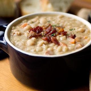 Creamy White Bean Stew with Smoky Bacon Recipe