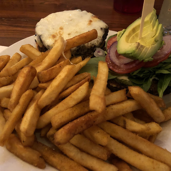 Cali burger and fries from dedicated fryer!