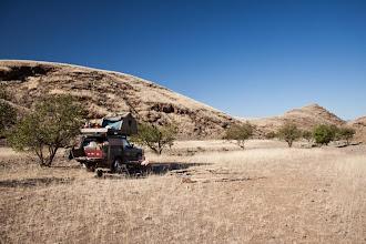 Photo: Beautiful camp spots around Sesfontein / Nádherné táboření okolo Sesfontein