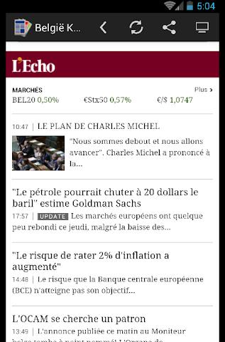 android actualités belgique - Press Screenshot 0