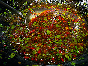 """Photo: making sauce for """"Shanghai"""" noodles"""