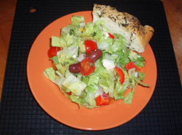 Chopped Mediterranean Salad With Chicken