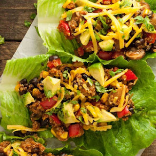 Taco Vegetarian Lettuce Wraps.