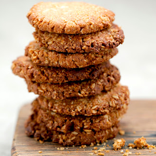 Healthy Anzac Biscuits.