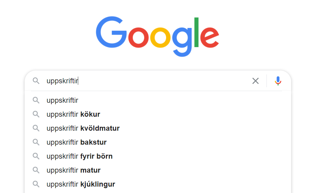Uppskriftir tillögur að leitarorðum