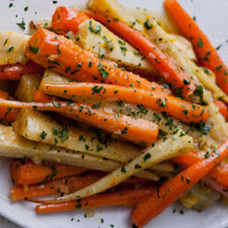 Roasted Parsnips and Carrots.