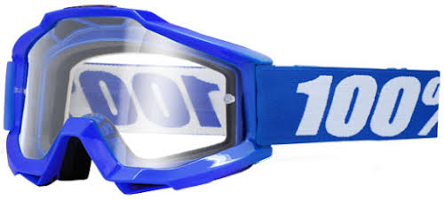 100% Accuri OTG Goggle, Reflex Blue (Clear)