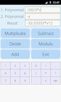 Screenshot of Polynomial Calculator