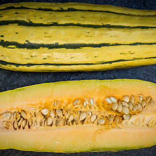 Maple Roasted Delicata Squash with Rosemary.