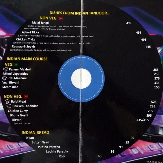 Blues menu 2