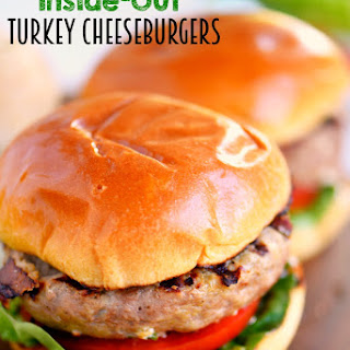 Inside Out Turkey Cheeseburgers
