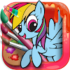 Unicorn Coloring Pages – Pony Coloring Book APK Icon
