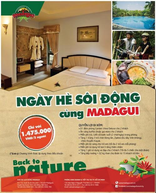 Khu du lịch Madagui ưu đãi ngày hè sôi động
