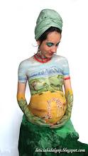 Photo: bodypainting premama