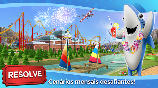 RollerCoaster Tycoon Touch Apk Mod Dinheiro Infinito 4