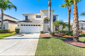Orlando villa, gated resort with facilities, west-facing pool, separate hot tub, games room