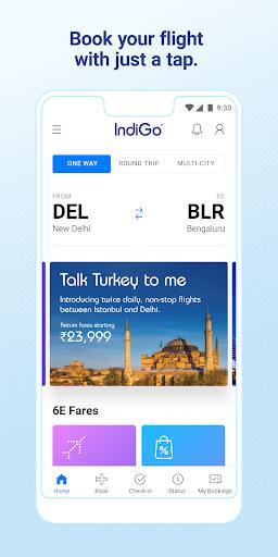 IndiGo-Flight Ticket Booking App 5.0.56 Screenshots 1