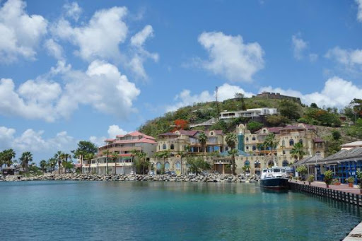 The harbor at Marigot, the pretty Creole-influenced French capital of St. Martin.