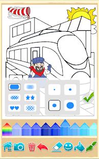 Tren Oyunu çocuklar Için Boyama Kitabı Cihaza Göre Değişir Hileli
