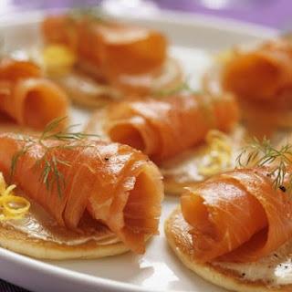Salmon Blini Bites.