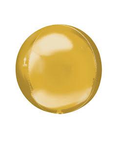 Folieballong Rund, guld